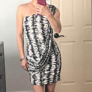 Trixxi one shoulder stretch mini dress S